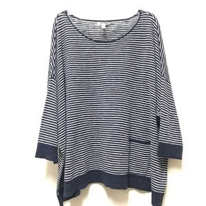 EILEEN FISHER TUNIC NAVY & WHITE STRIPE SZ XL